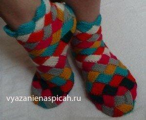 Вязание носков в стиле энтерлак