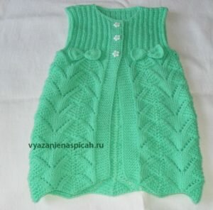 Детское платье сарафан спицами