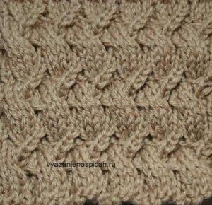 Плетеный узор спицами